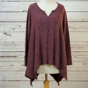 Sinuous - NWT - Plum Fleece Tunic - Medium